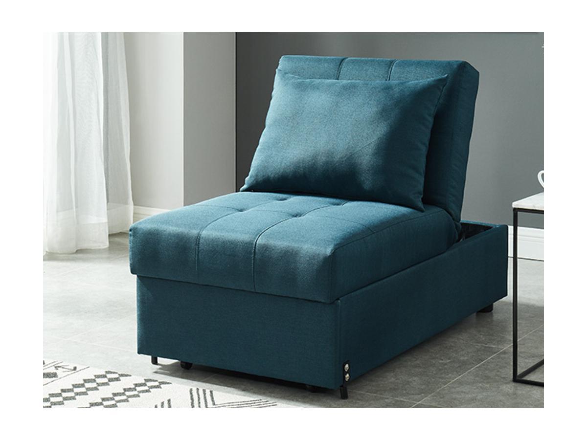 Schlafsessel Stoff LESNA - Grünblau