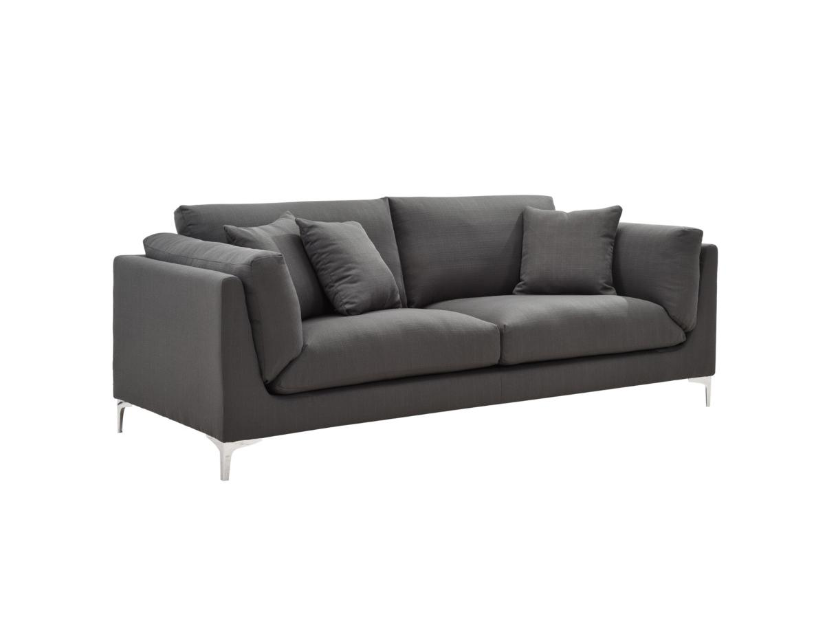 3-Sitzer-Sofa Stoff FLAKE - Anthrazit