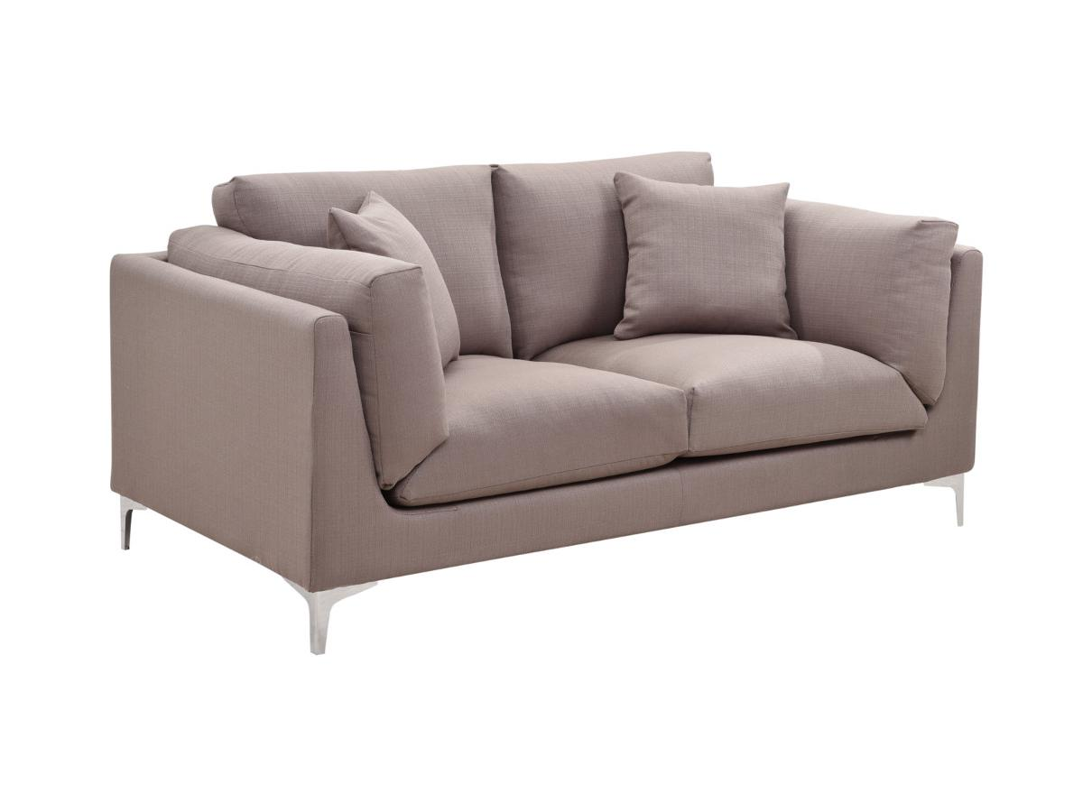 2-Sitzer-Sofa Stoff FLAKE - Taupe