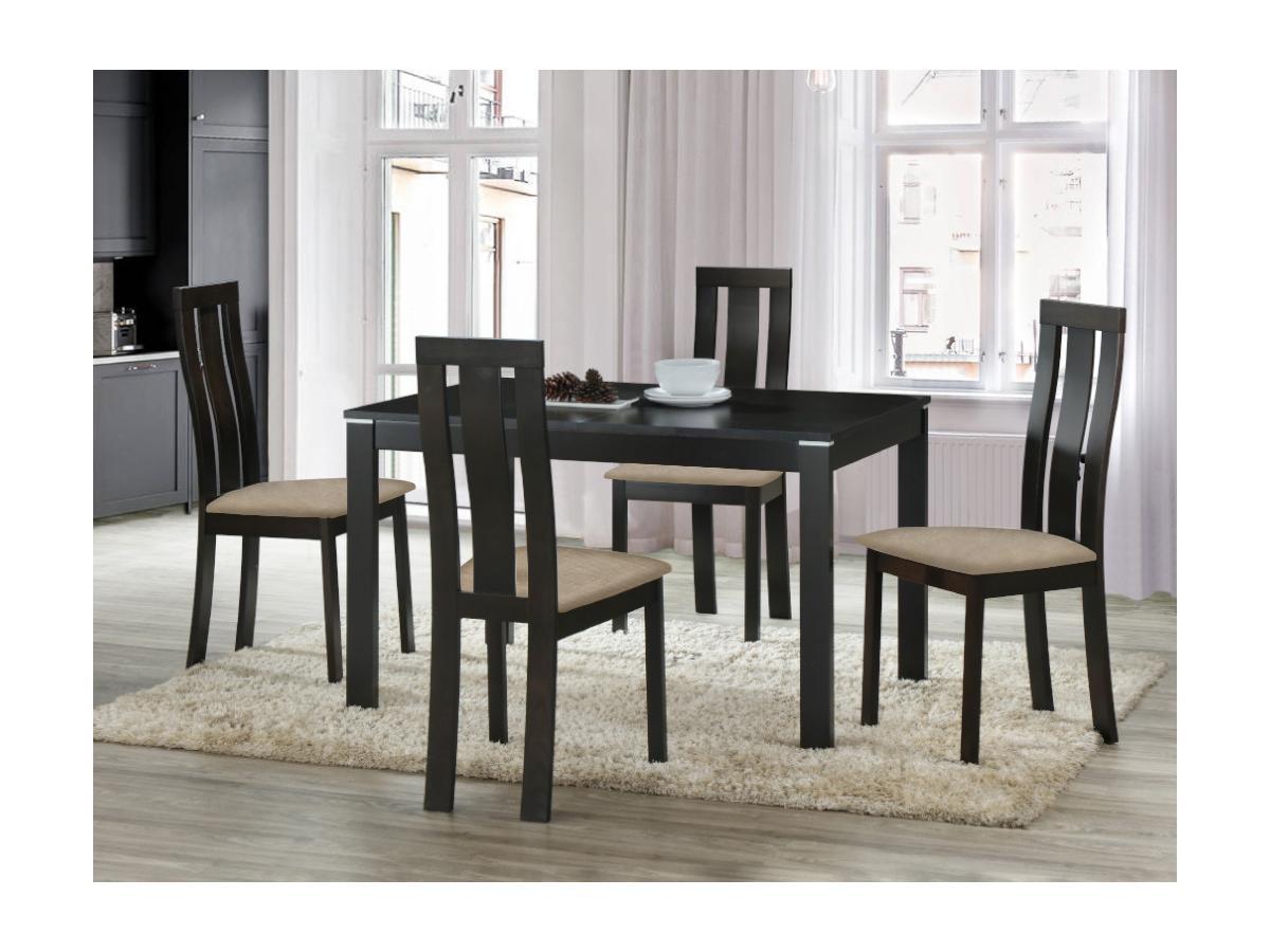Essgruppe DOMINGO: Tisch + 4 Stühle
