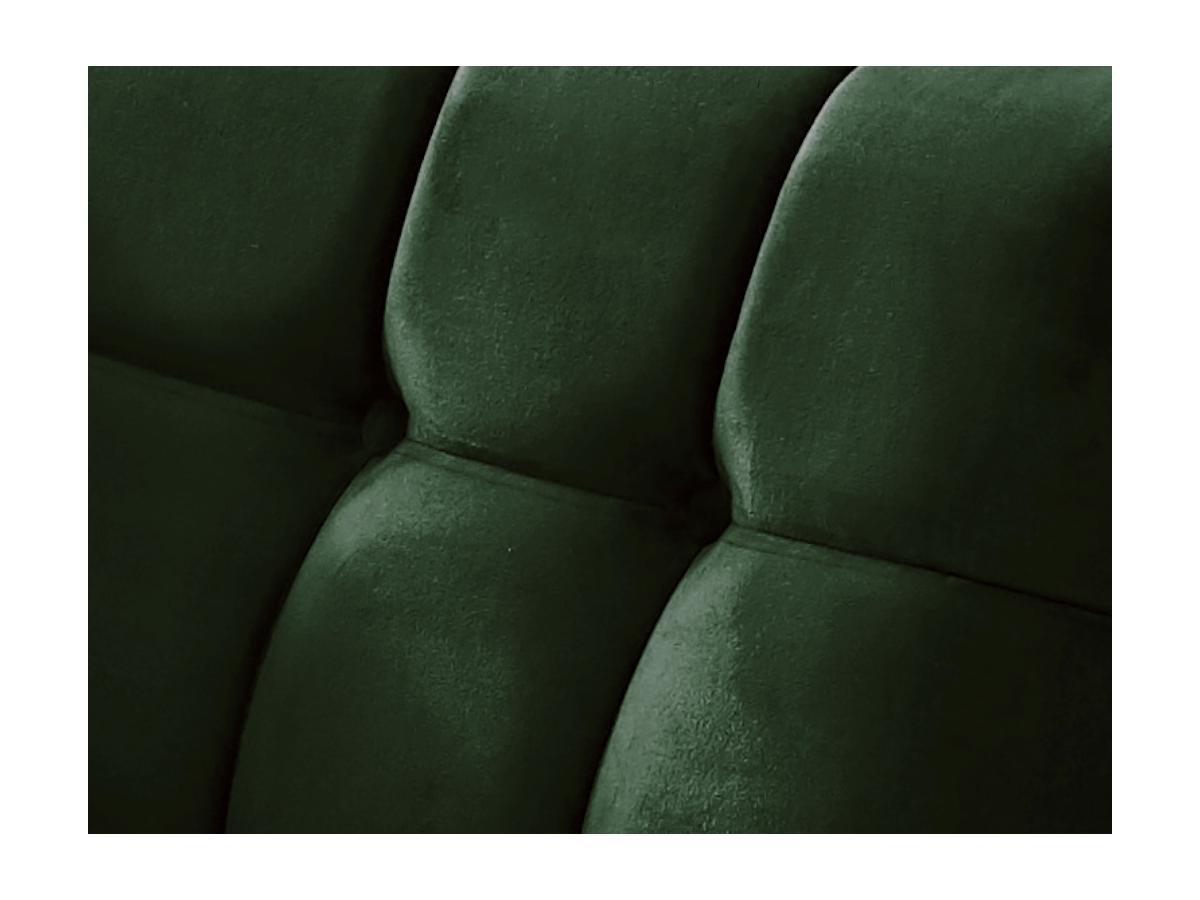 3-Sitzer-Sofa Samt SAMANTHA - Tannengrün