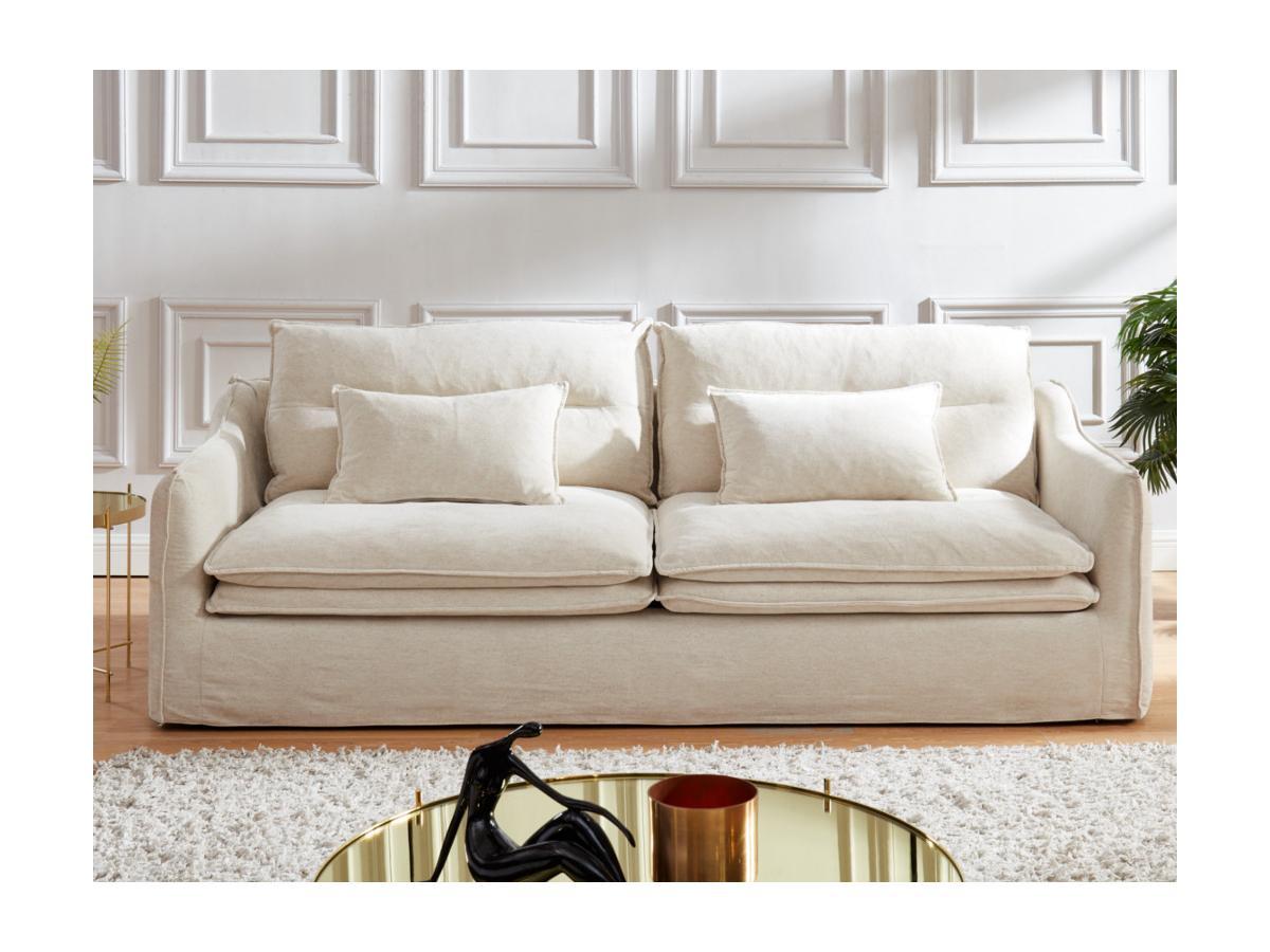 3-Sitzer-Sofa Leinen & Baumwolle ADILA