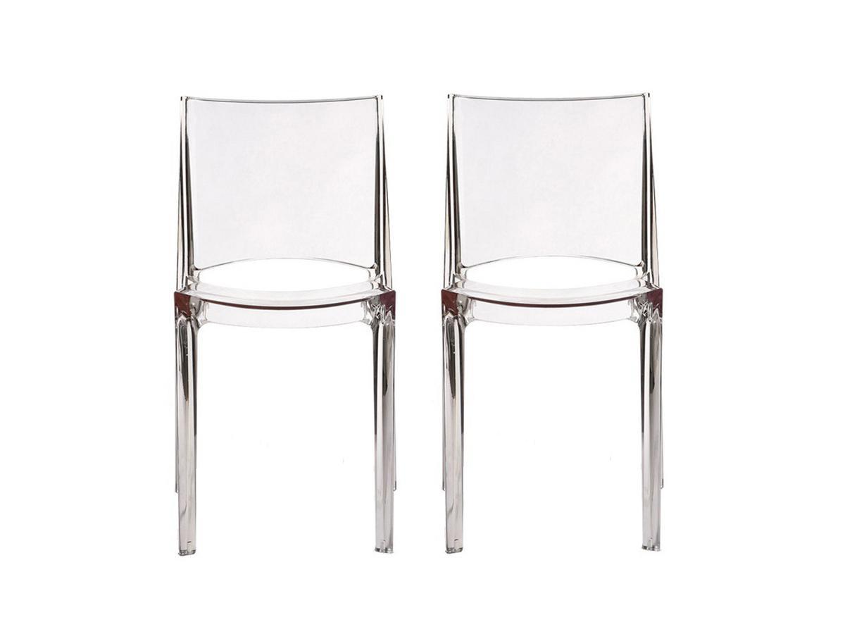 Kauf-Unique Stuhl 2er-Set HELLY - Transparent 523401