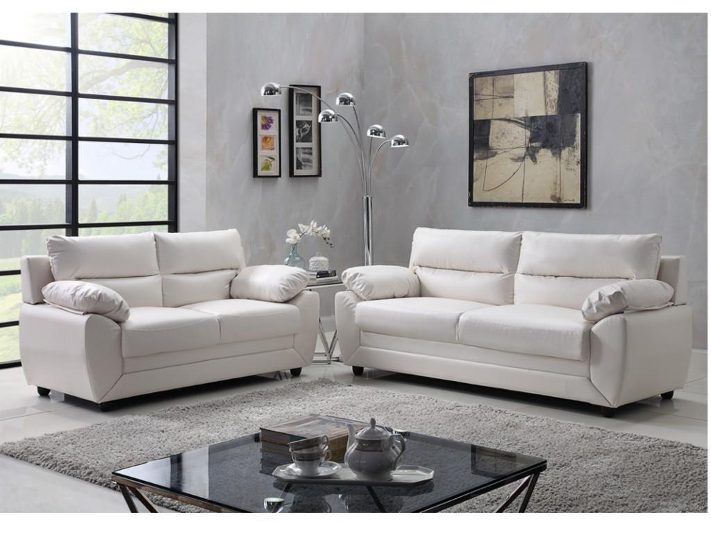 Kauf-Unique Couchgarnitur 3+2 MANOA - Weiß 525617