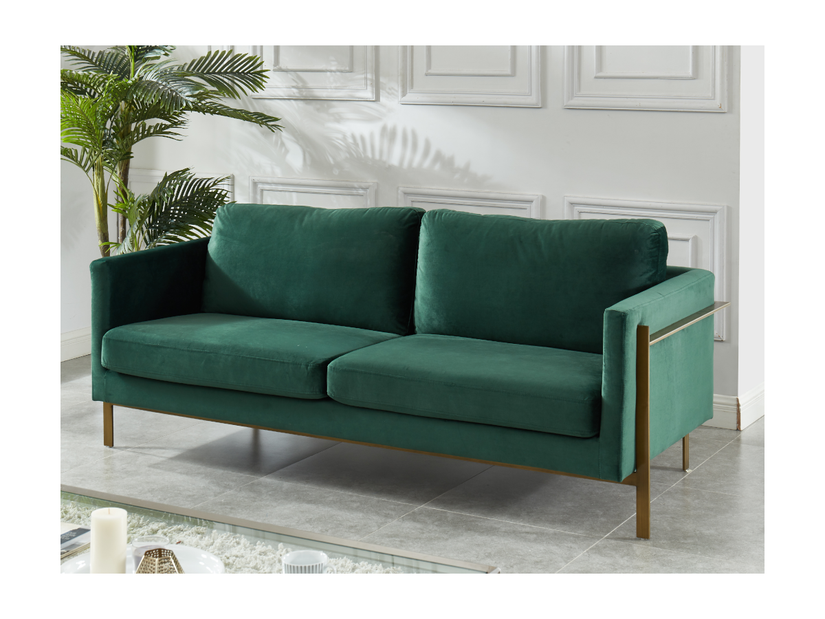 3-Sitzer-Sofa Samt BAROU - Grün