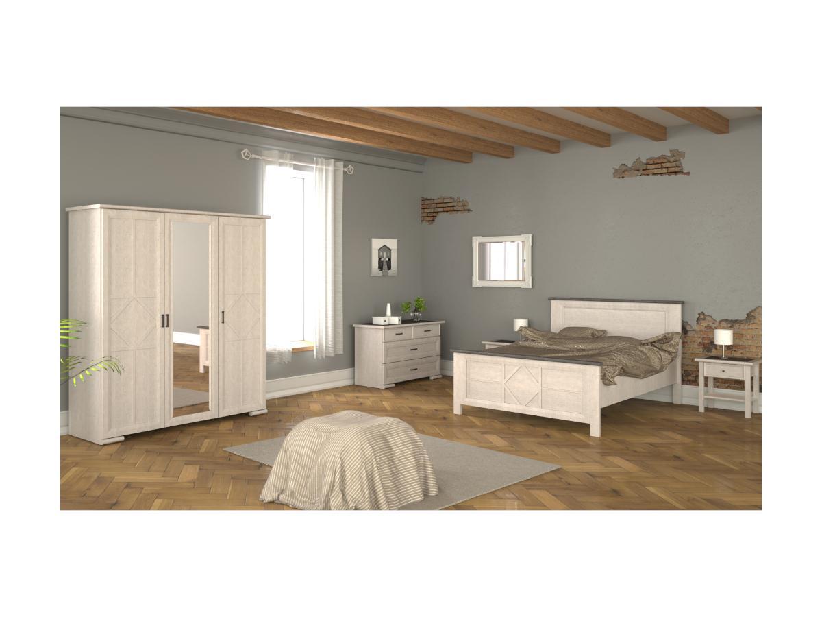 Kleiderschrank mit Spiegel MAELIS - B 172,5cm - 3 Türen