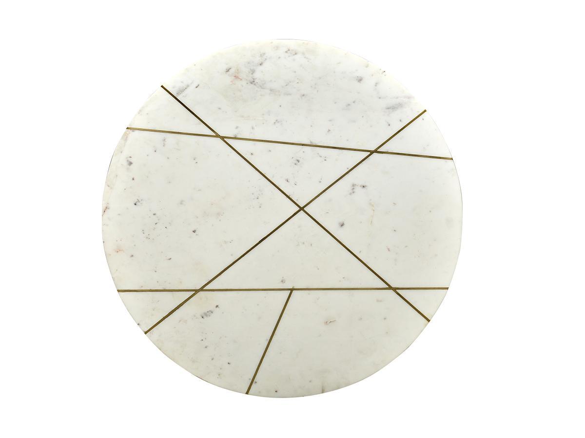 Couchtisch Marmor & Metall ORNEA - Weiß