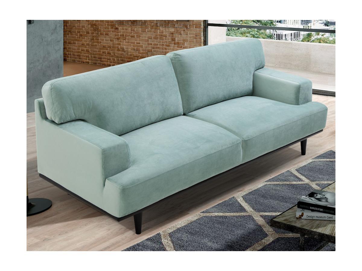 3-Sitzer-Sofa BARNABE - Samt - Hellgrün
