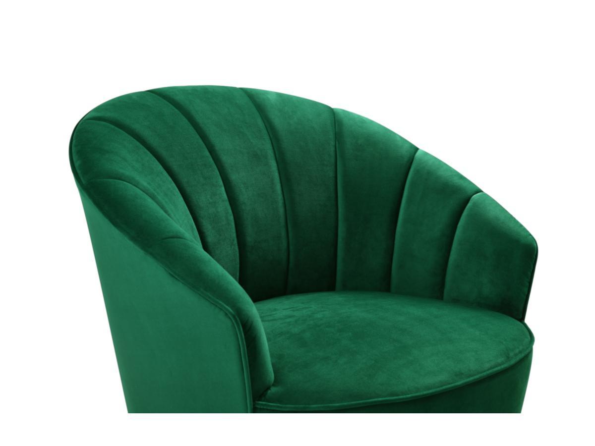 Sessel Samt ARCHIE - Dunkelgrün