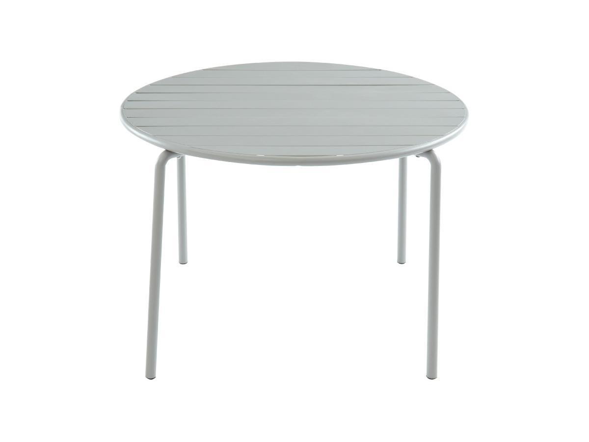 Garten Esstisch Metall MIRMANDE - D. 110 cm - Grau
