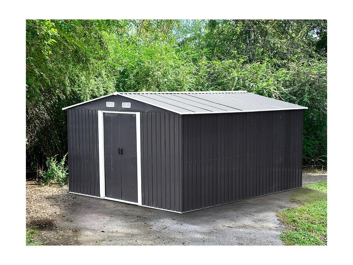 Kauf-unique Gerätehaus Gartenhaus MANSO - Stahl - 13m² 615611