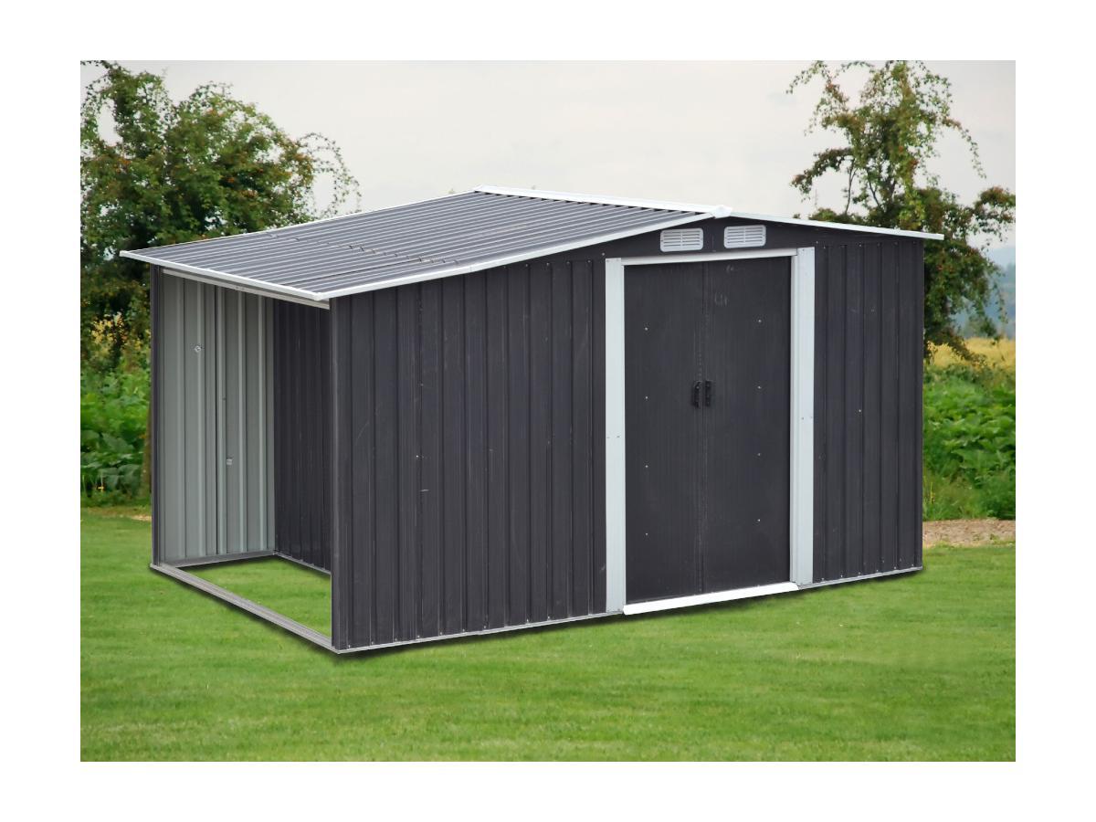 Kauf-unique Gerätehaus Gartenhaus LERY - Stahl - 6m² 615613
