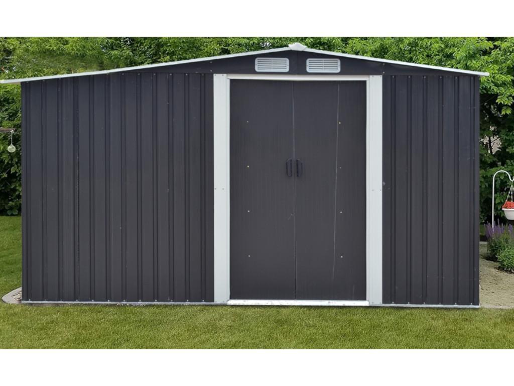 Kauf-unique Gerätehaus Gartenhaus LERY - Stahl - 10,5m² 615615