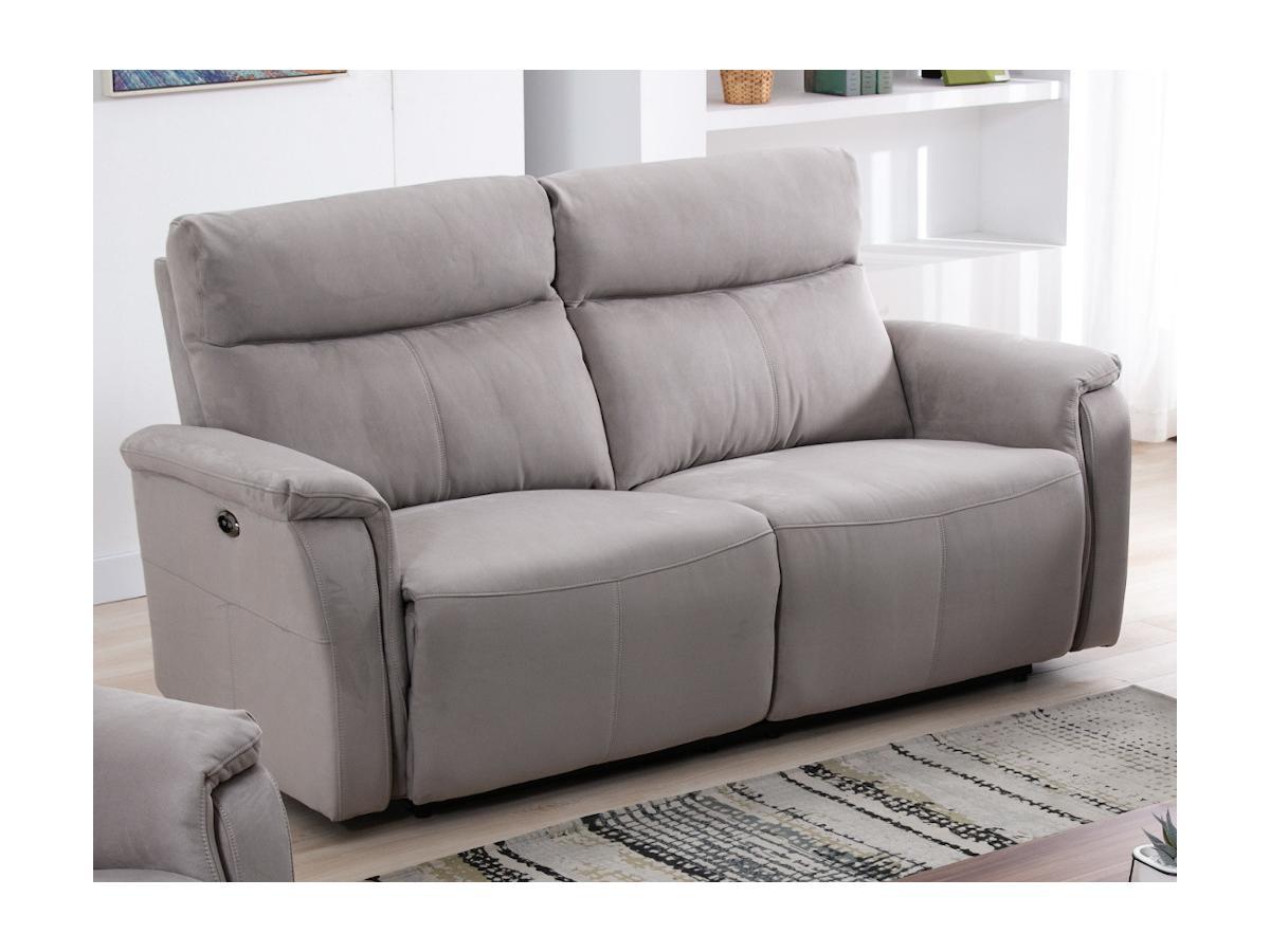 Relaxsofa elektrisch 3-Sitzer HENEL - Stoff - Beige