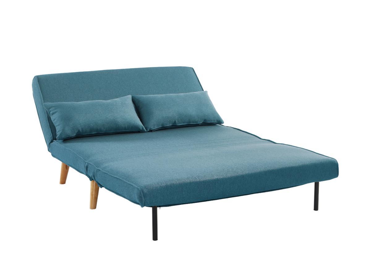 Schlafsofa 2-Sitzer POSIO - Stoff - Blau