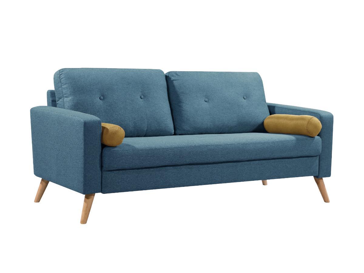 3-Sitzer-Sofa Stoff TATUM - Blau