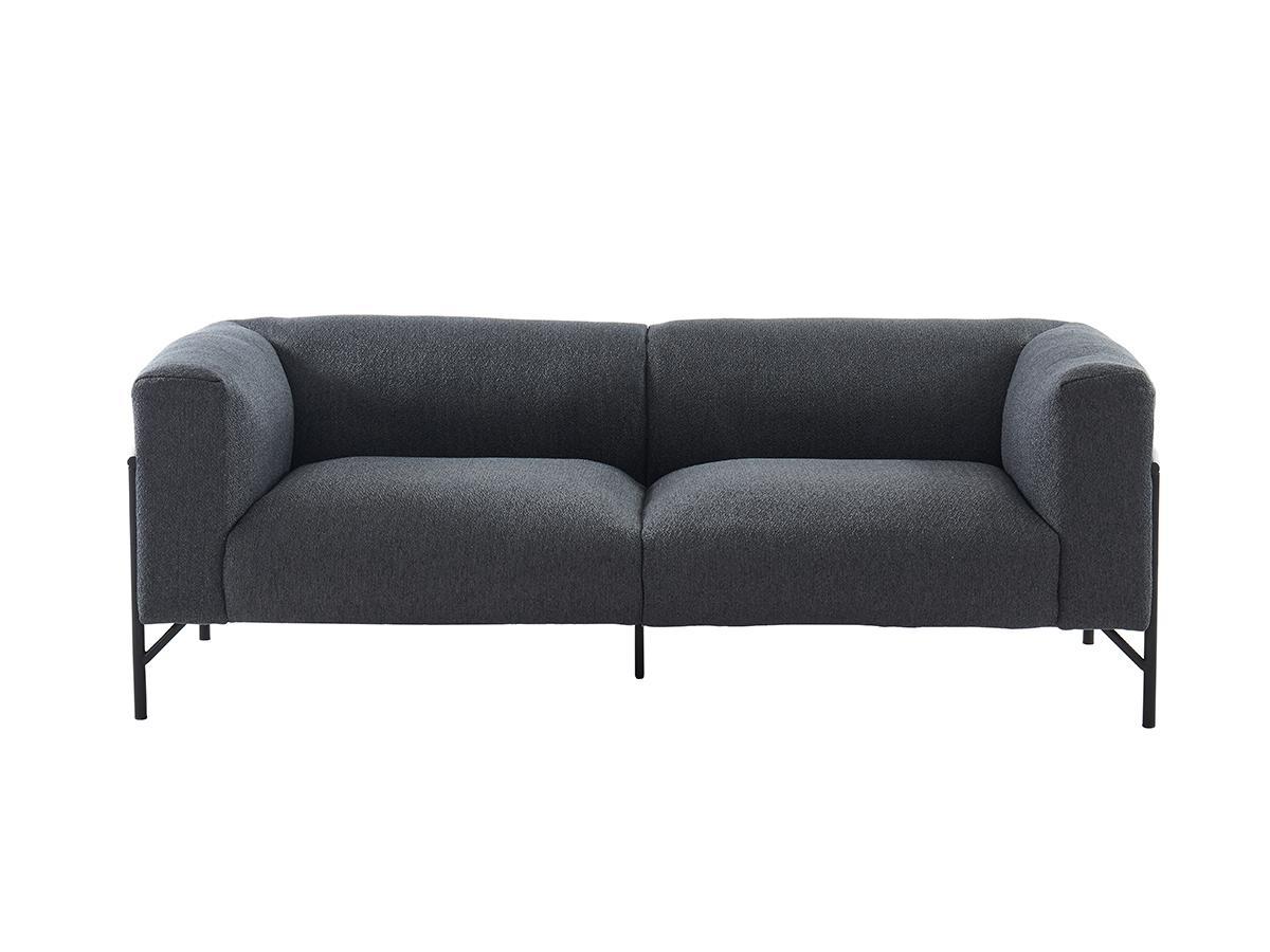 3-Sitzer-Sofa CELINE - Stoff - Anthrazit
