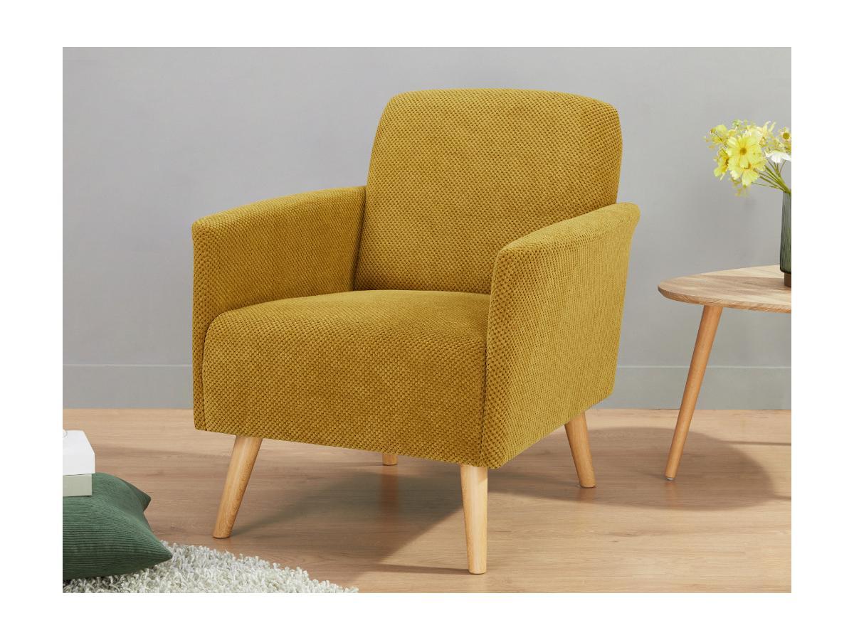 Kauf-Unique Sessel ELMAR - Stoff - Senfgelb 636651