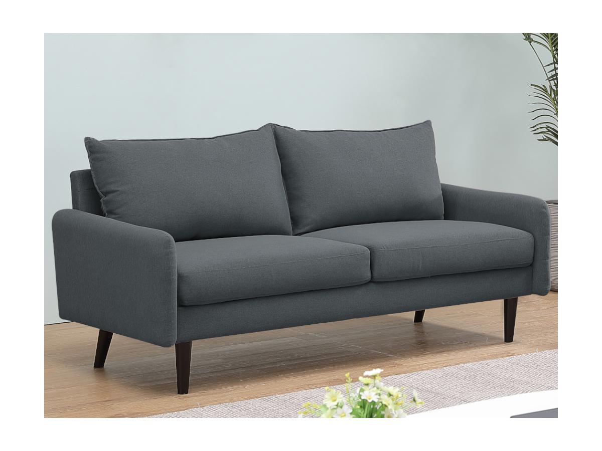 3-Sitzer-Sofa HALIA - Stoff - Grau