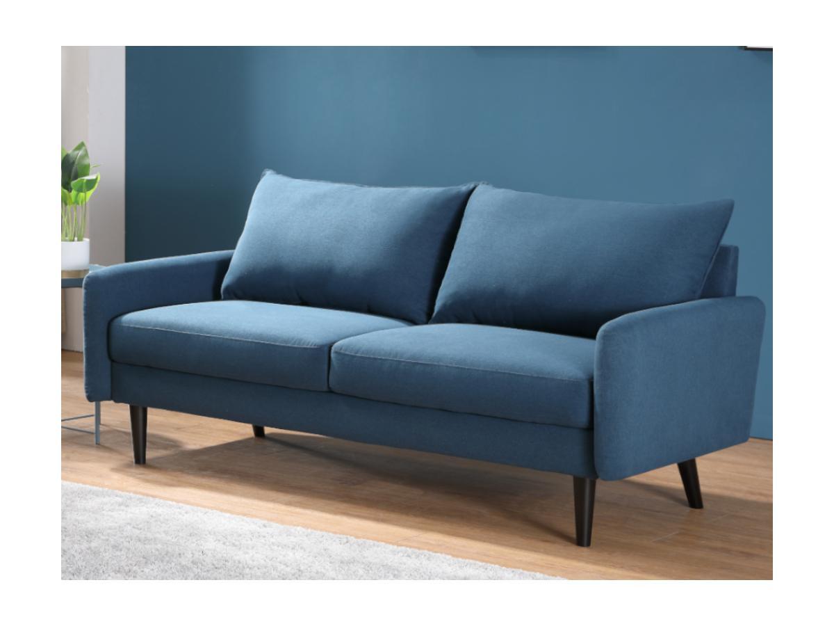 3-Sitzer-Sofa HALIA - Stoff - Blau