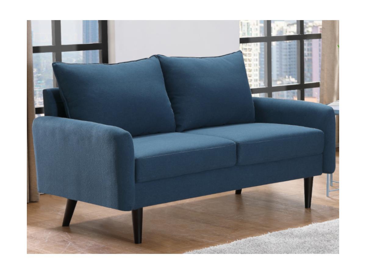 2-Sitzer-Sofa HALIA - Stoff - Blau
