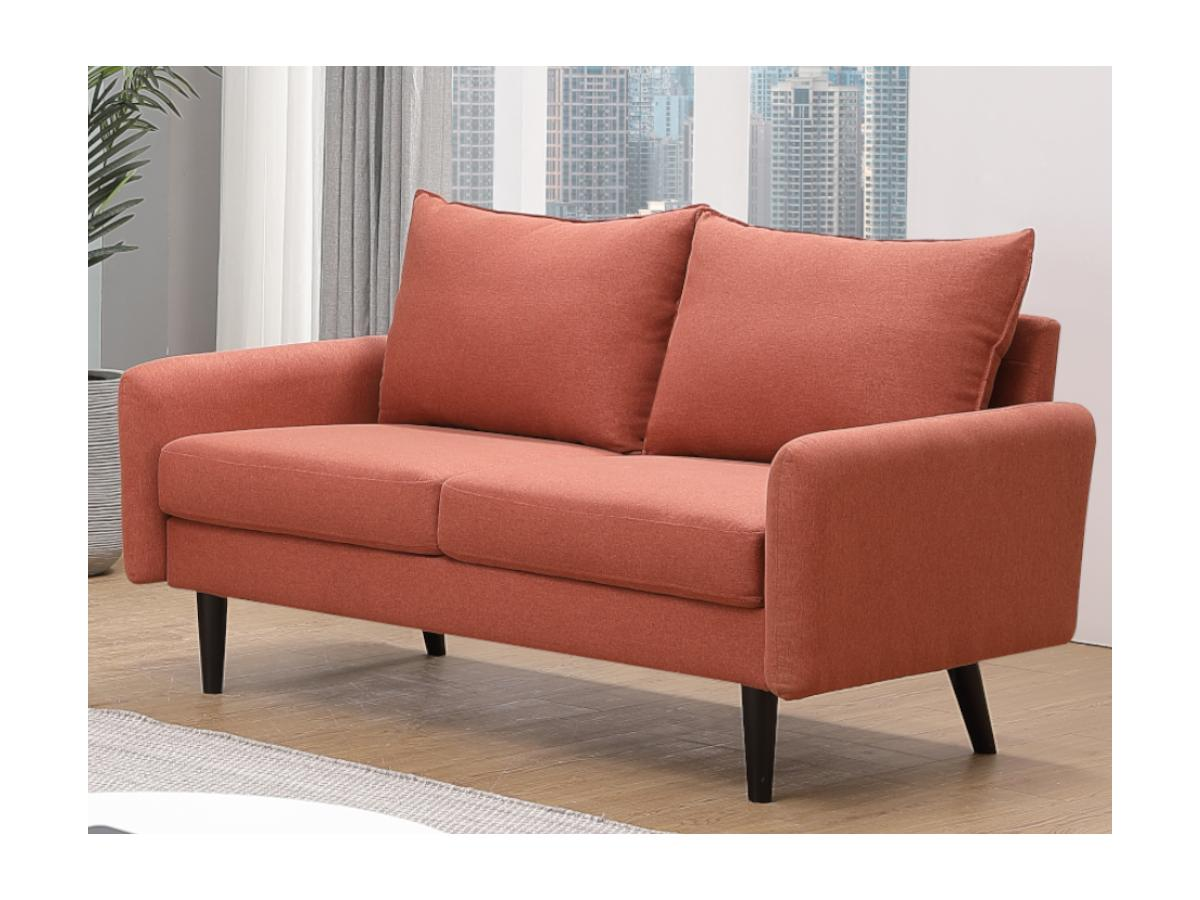 2-Sitzer-Sofa HALIA - Stoff - Terrakotta