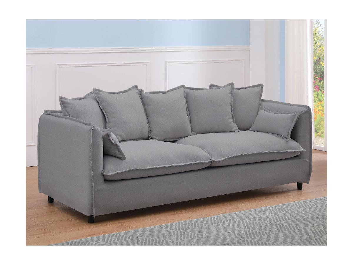 3-Sitzer-Sofa RAMSES - Stoff - Grau
