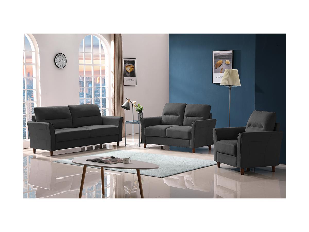 3-Sitzer-Sofa SIDONIE - Stoff - Dunkelgrau