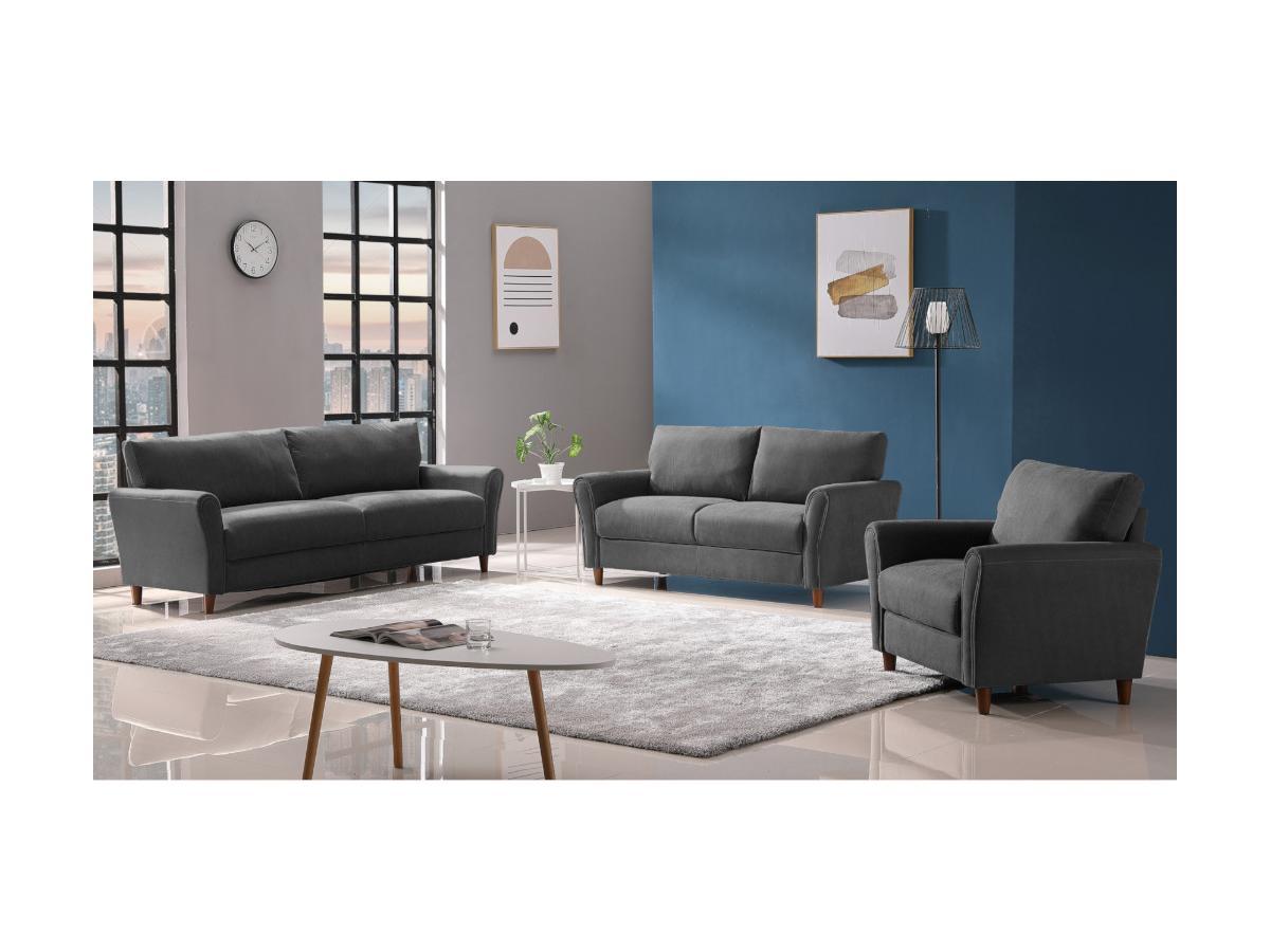 3-Sitzer-Sofa ELALY - Stoff - Grau