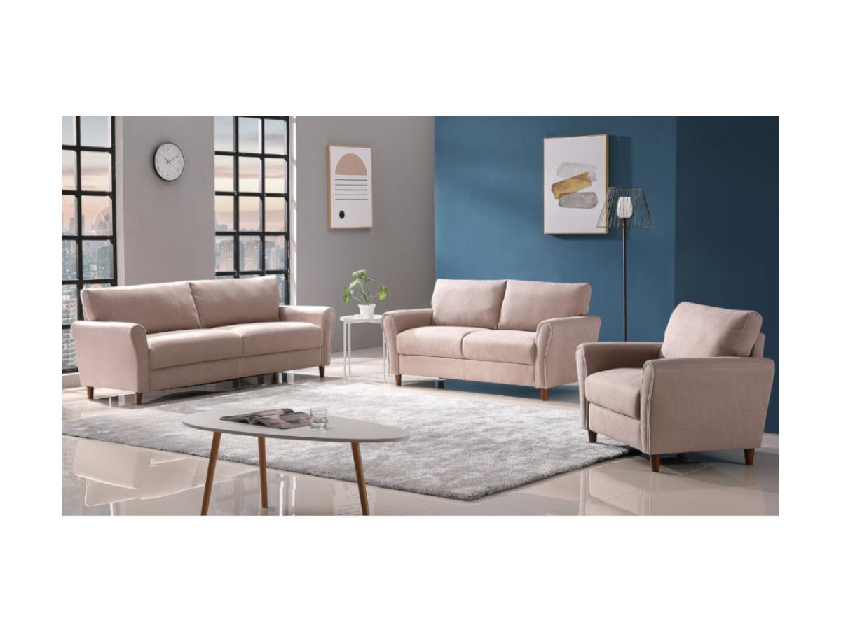 2-Sitzer-Sofa ELALY - Stoff - Beige