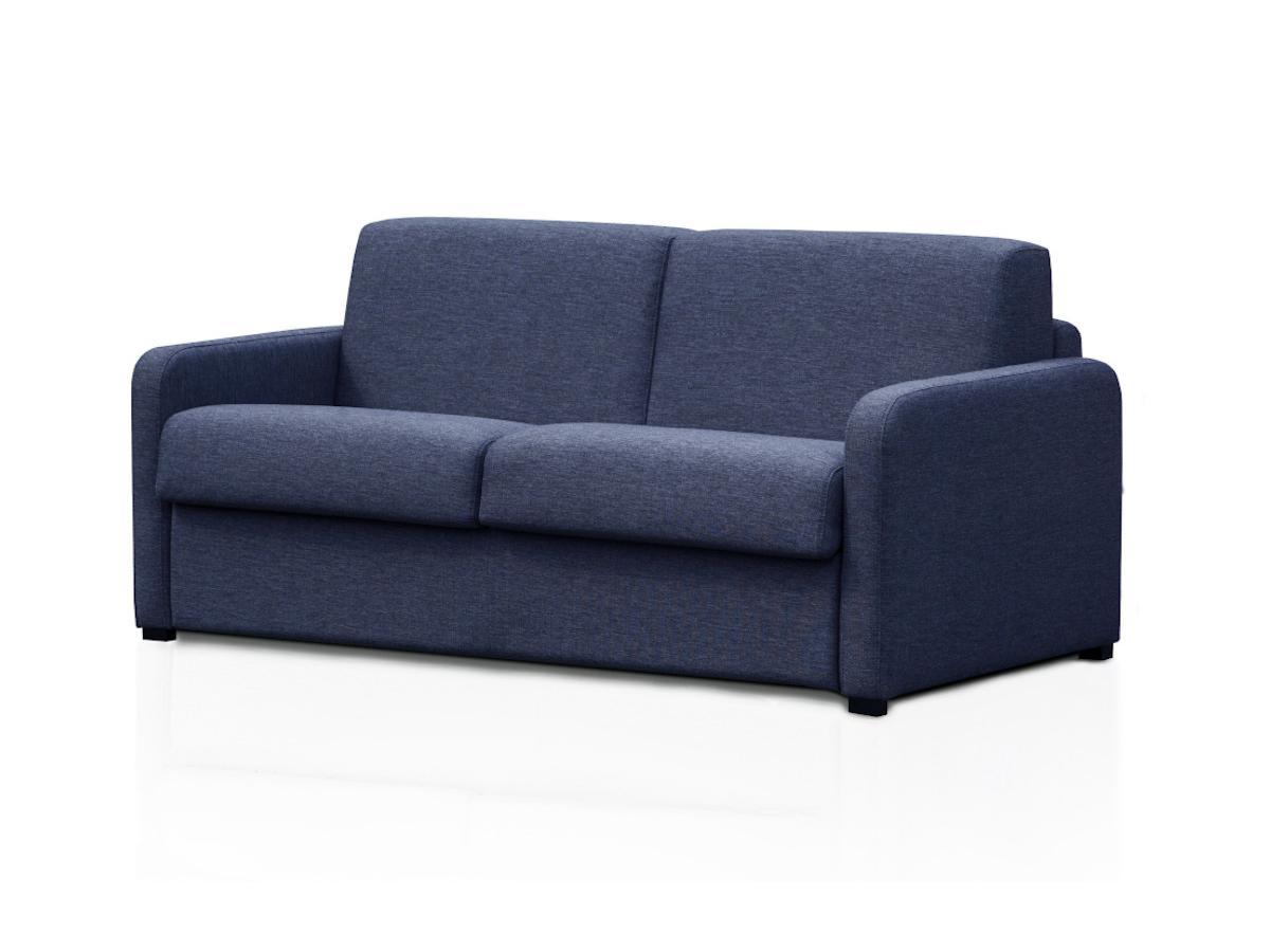 Schlafsofa mit Matratze 3-Sitzer TOMAKA - Stoff - Blau
