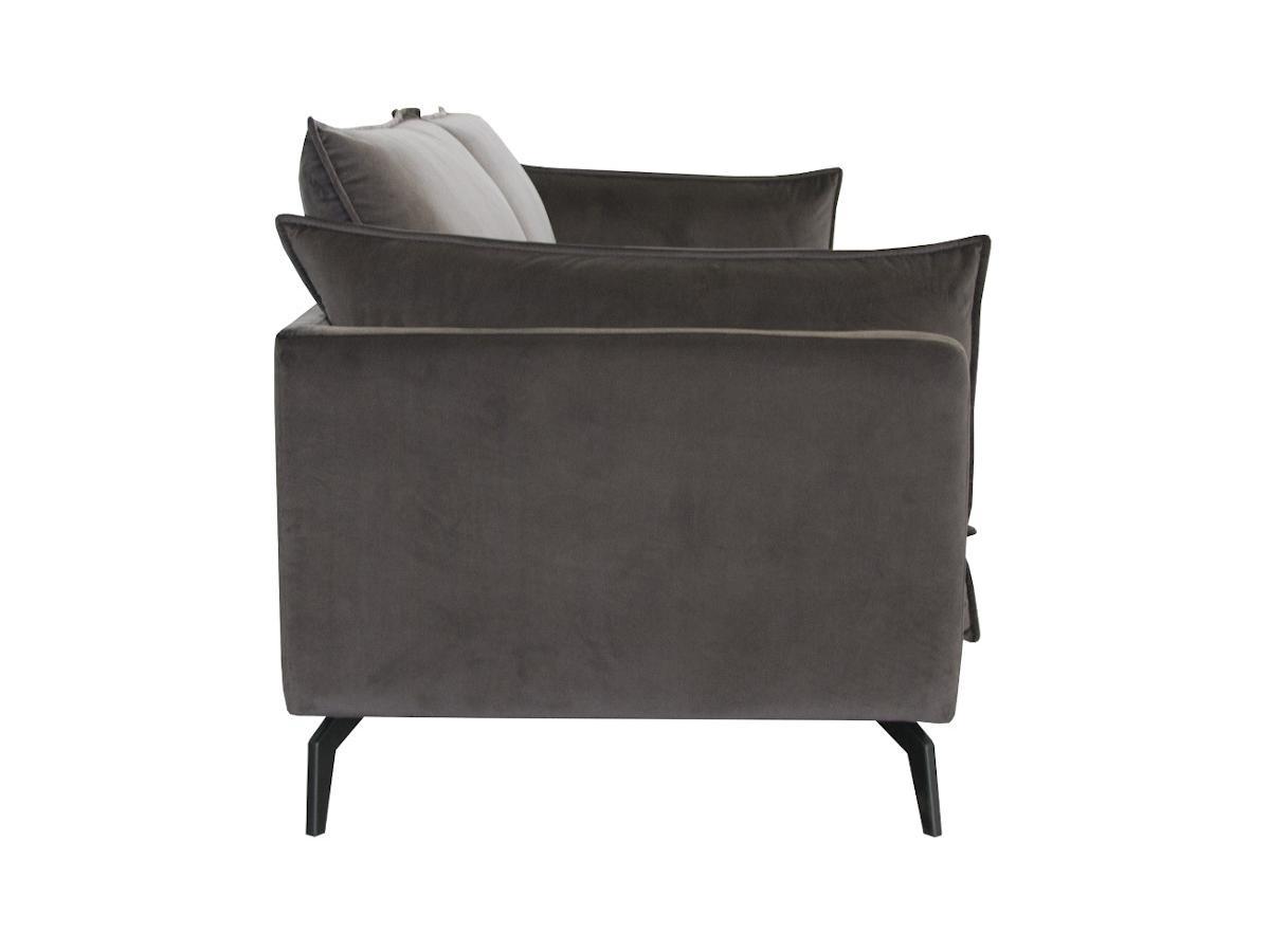 2-Sitzer-Sofa KESTREL - Samt - Grau