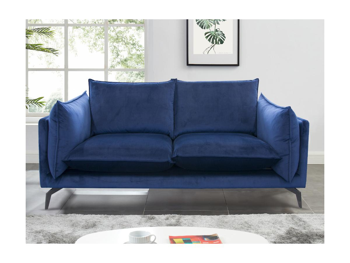 2-Sitzer-Sofa KESTREL - Samt - Dunkelblau