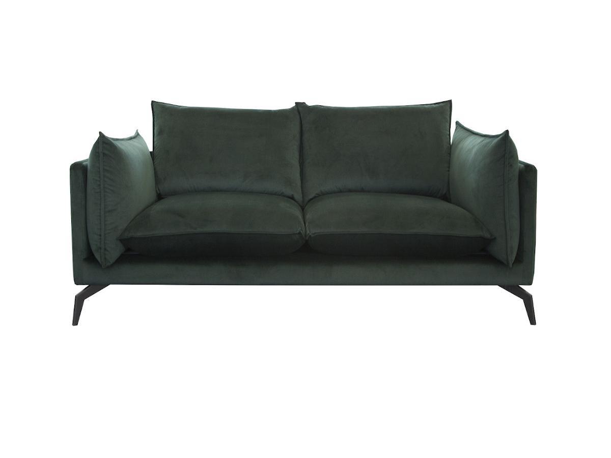 2-Sitzer-Sofa KESTREL - Samt - Grün