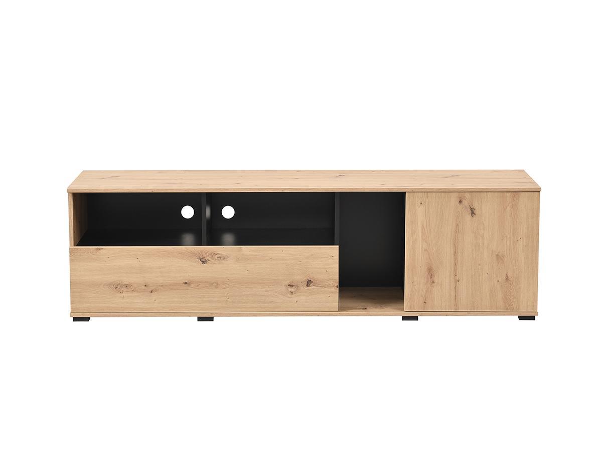 TV-Möbel DIEGO - 2 Türen & 3 Ablagen - Eichenholzfarben