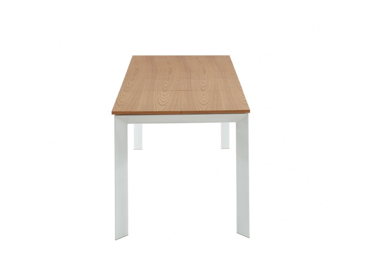 Esstisch ausziehbar MELITA - Holz & Metall - Eiche & Weiß