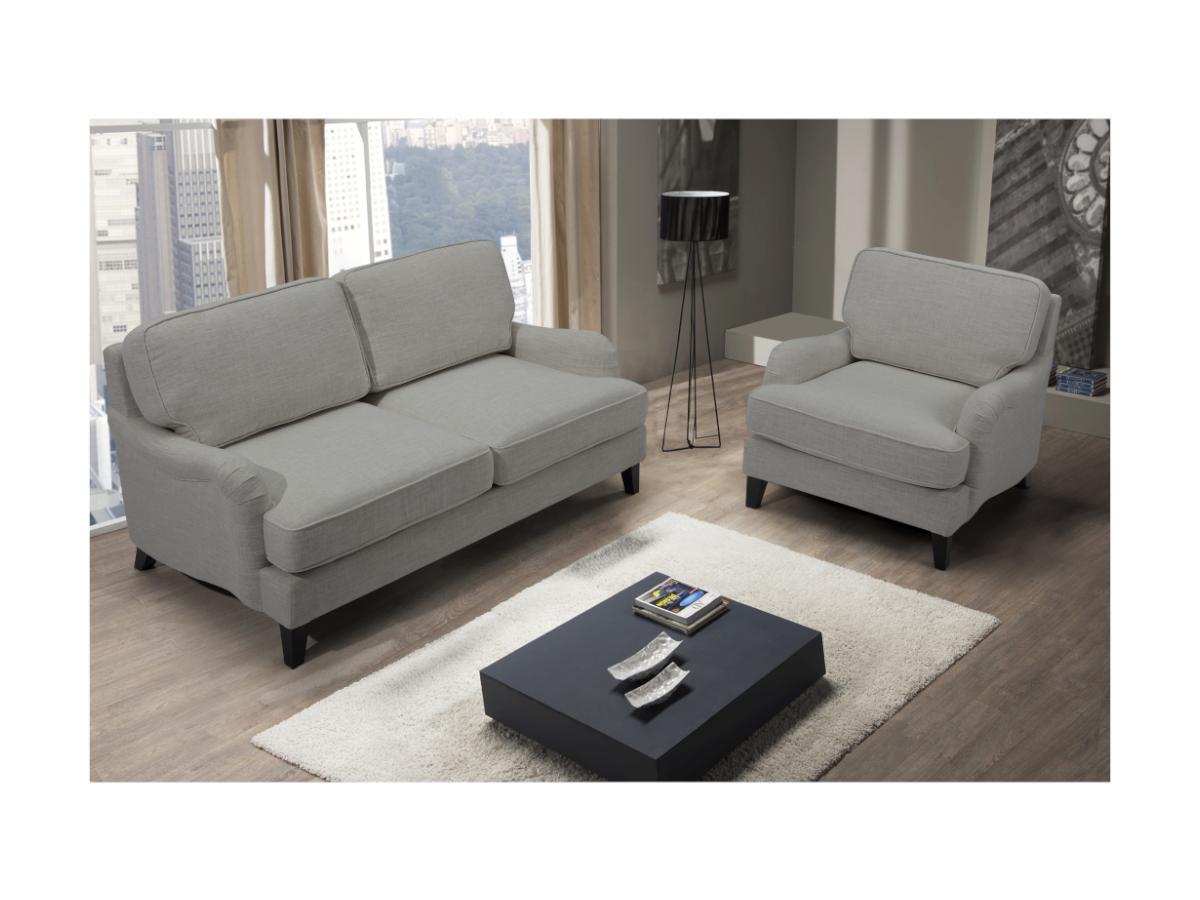 2-Sitzer-Sofa MOANDA - Stoff - Grau