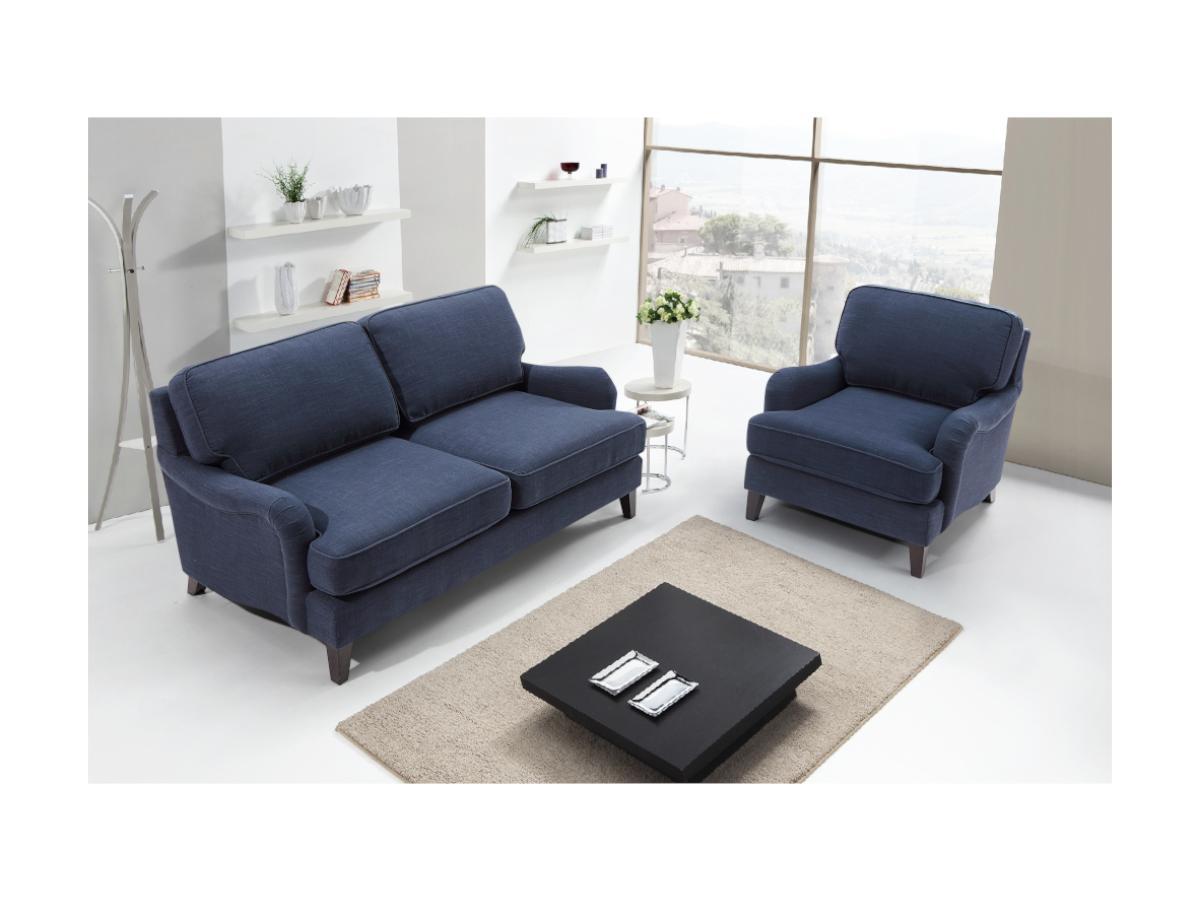 2-Sitzer-Sofa MOANDA - Stoff - Dunkelblau