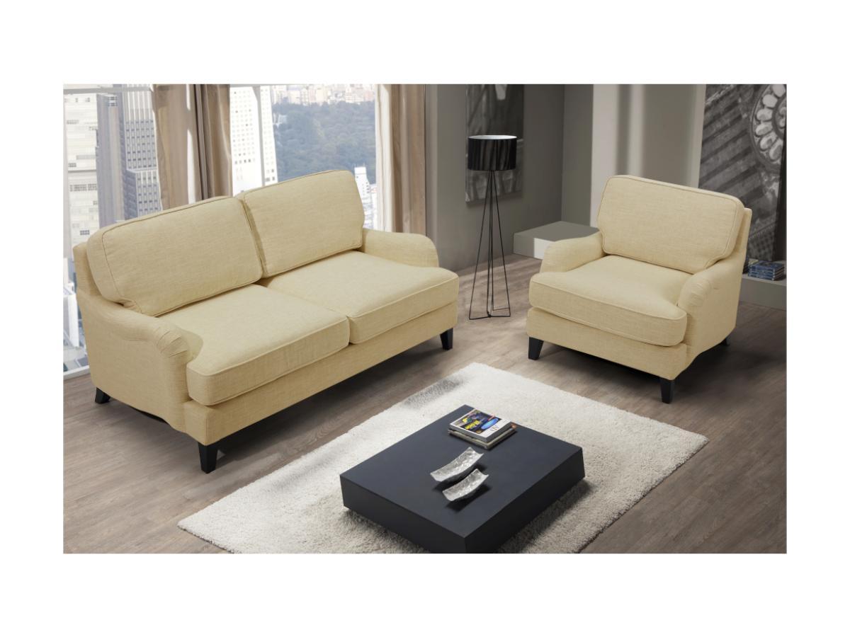 2-Sitzer-Sofa MOANDA - Stoff - Beige
