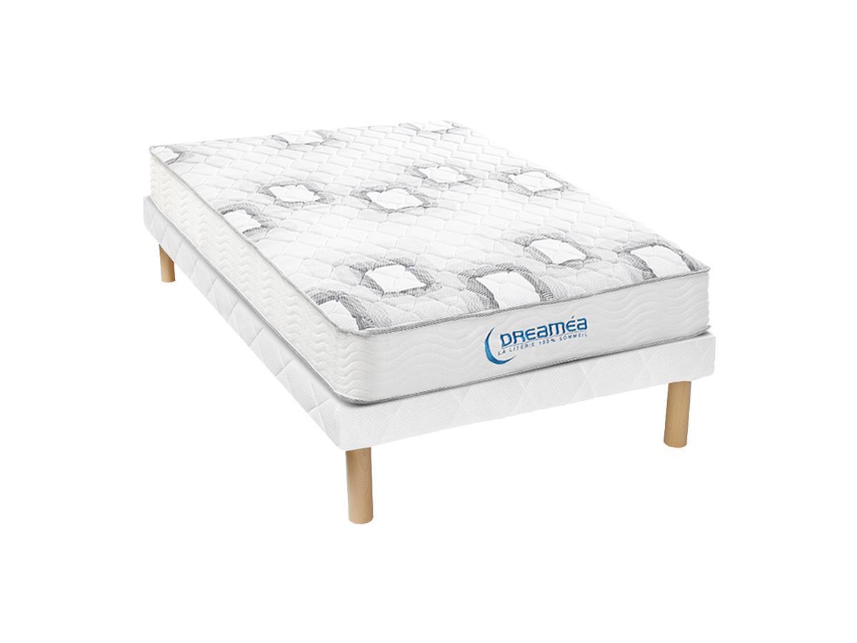 Taschenfederkernmatratze Lattenrost Set SONGE von DREAMEA - Dicke: 20 cm - 90 x 190 cm