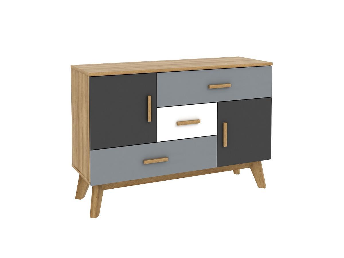 Sideboard AURORA - 3 Schubladen & Türen - Mehrfarbig
