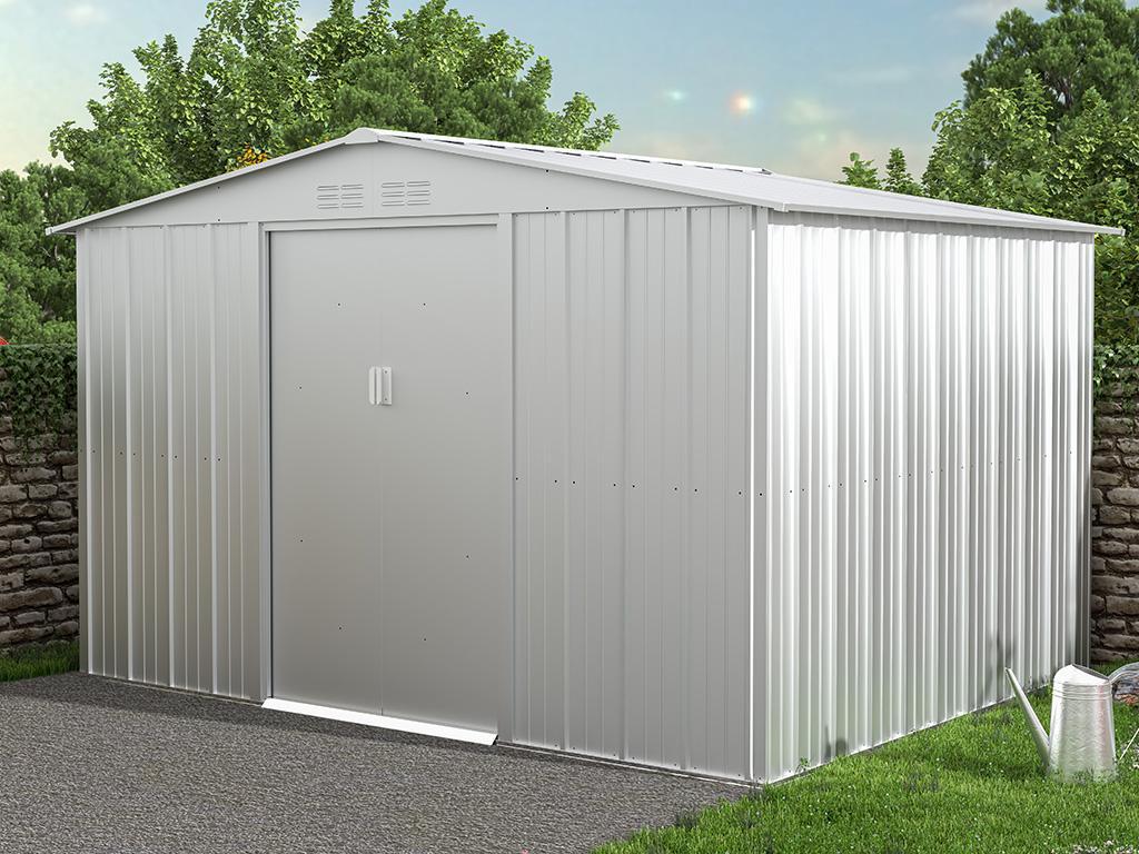 Kauf-unique Gartenhaus Gerätehaus LINUS - Stahl - 7,82 m² 739487