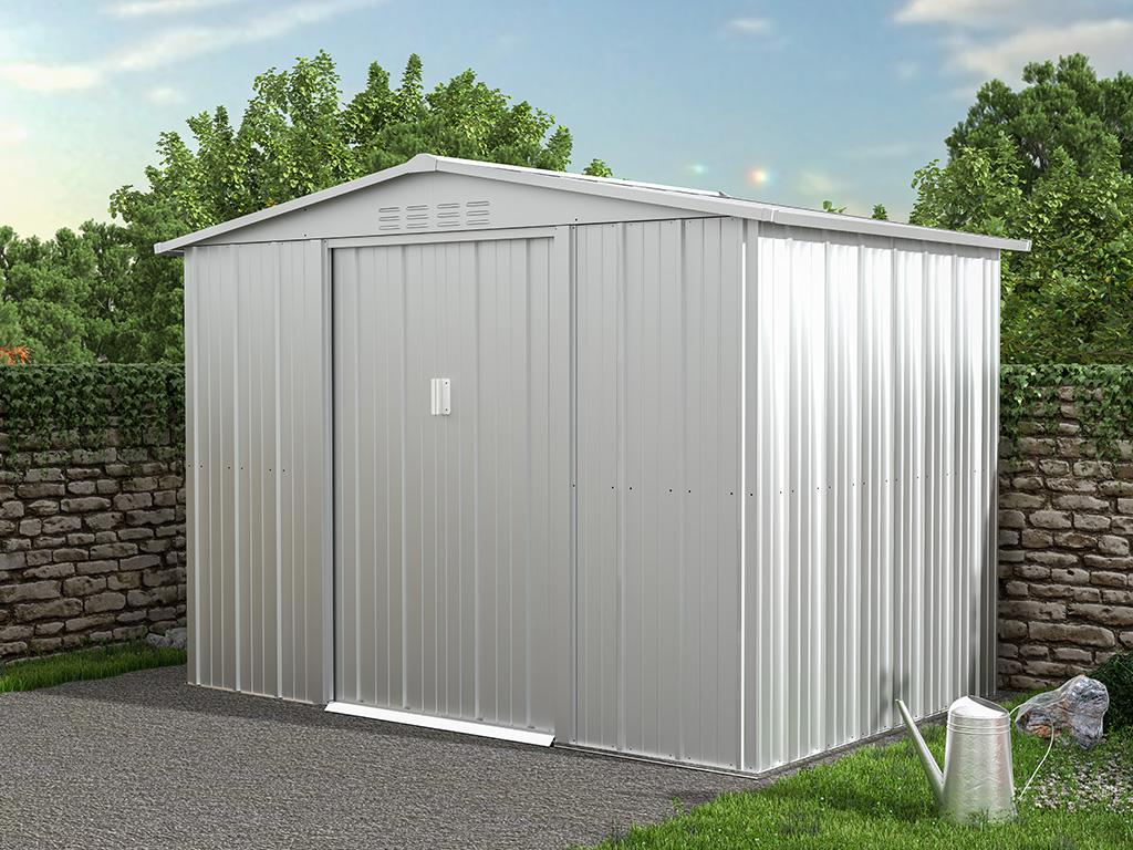 Kauf-unique Gartenhaus Gerätehaus LINUS - Stahl - 4,91 m² 739489