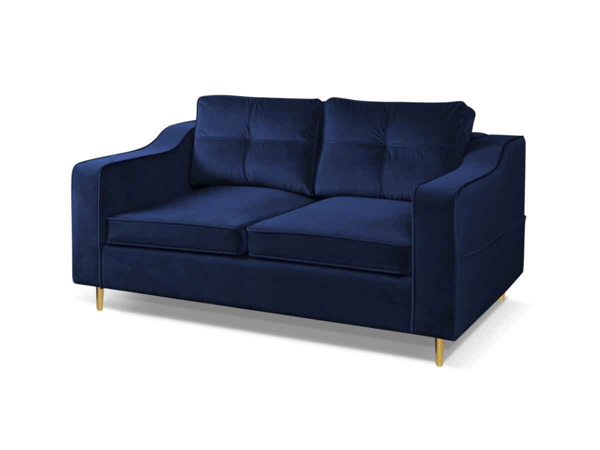 2-Sitzer-Sofa SORENI - Samt - Dunkelblau