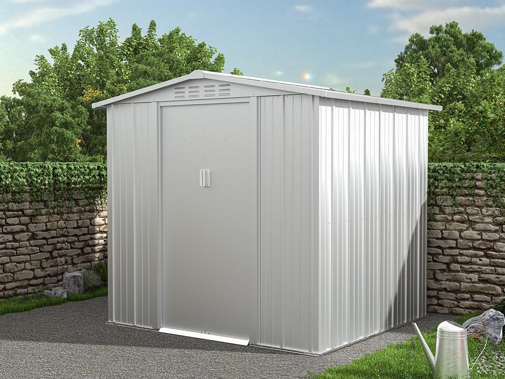 Kauf-unique Gartenhaus Gerätehaus LINUS - Stahl - 3,73 m² 739533