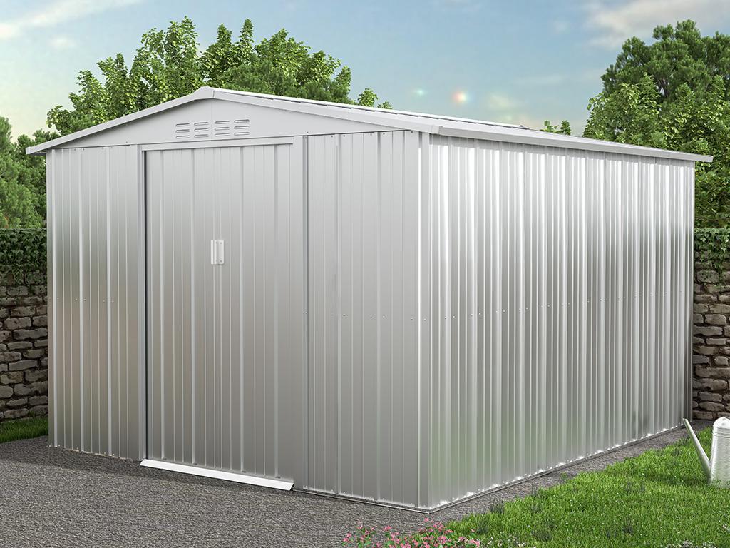 Kauf-unique Gartenhaus Gerätehaus LINUS - Stahl - 6,71 m² 739535