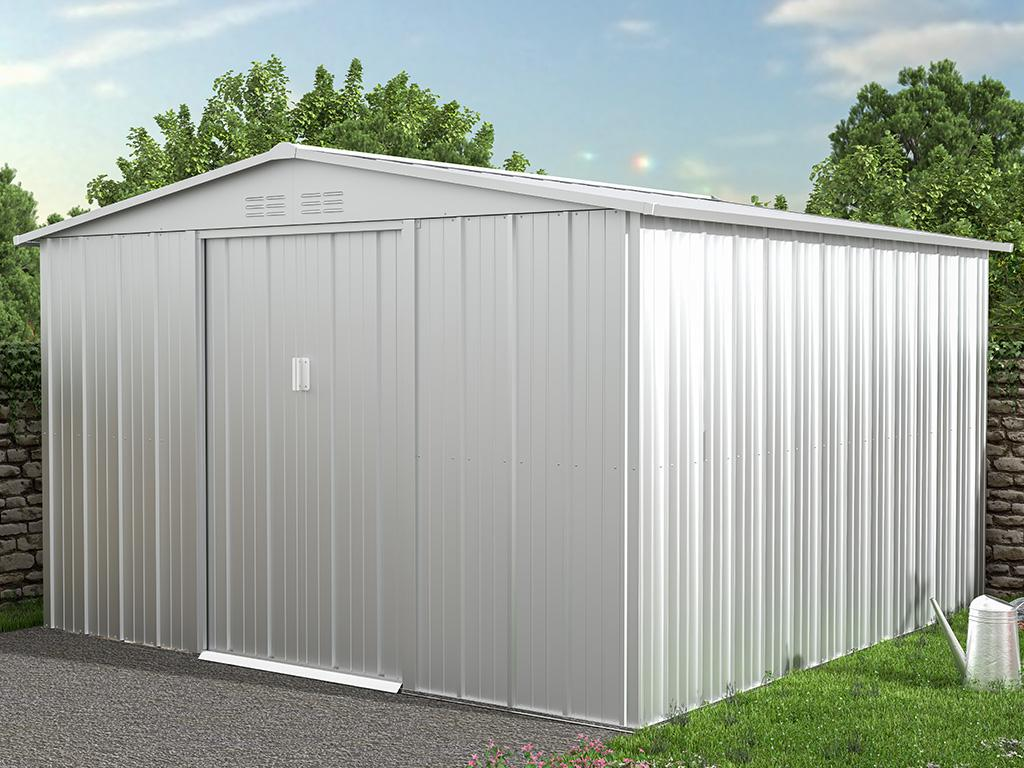 Kauf-unique Gartenhaus Gerätehaus LINUS - Stahl - 9,92 m² 739537