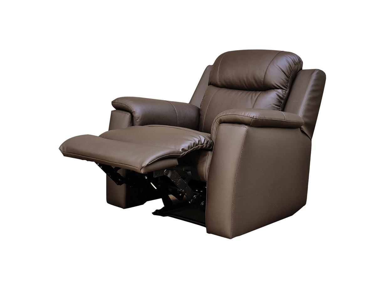 Kauf-Unique Relaxsessel Fernsehsessel Leder Evasion - Braun 57258