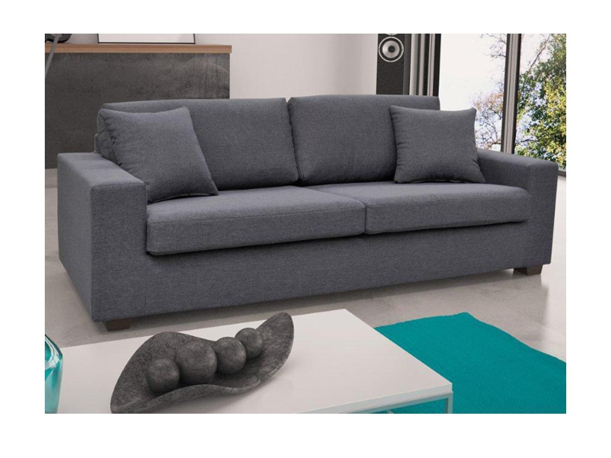 3-Sitzer-Sofa Stoff Yudo - Grau