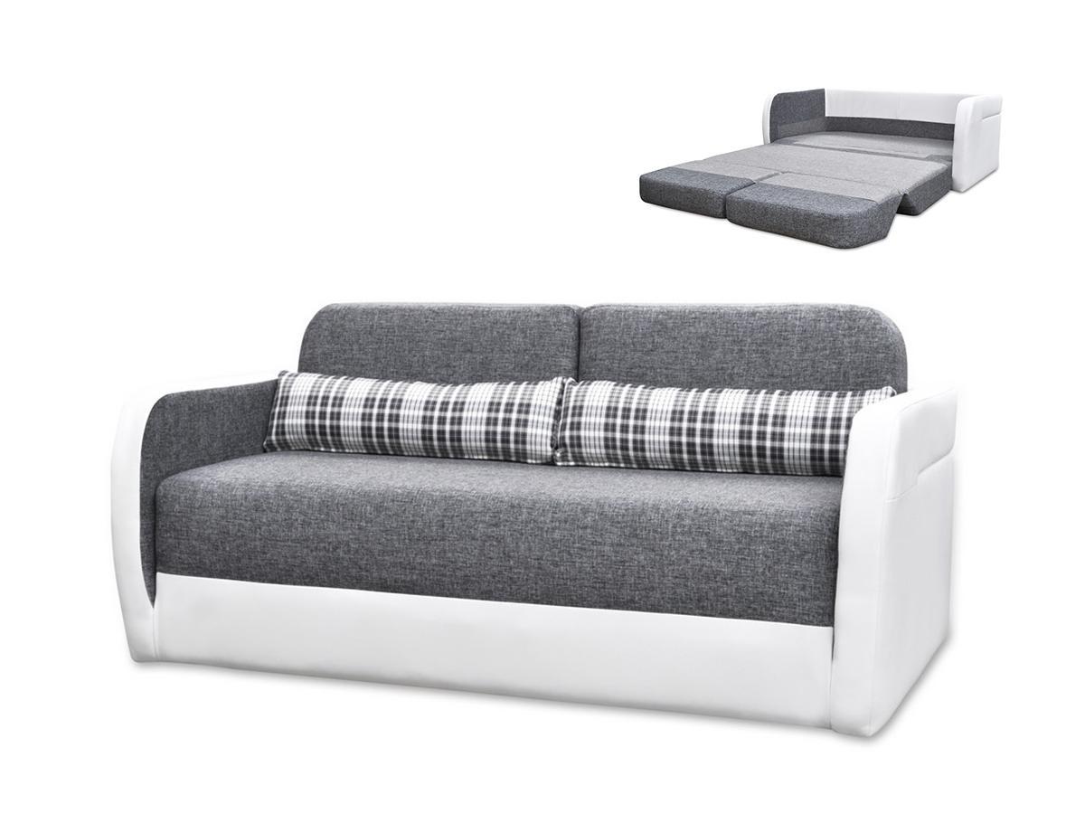 Schlafsofa 2-Sitzer VILO - Grau & Weiß